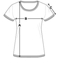 Tee shirt contraste Femme mesures