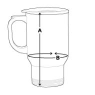 Mug thermos mesures