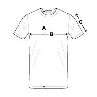 Tee shirt classique Homme mesures