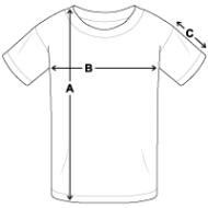 Tee shirt classique Enfant mesures