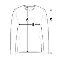 Tee shirt manches longues Premium Homme mesures