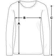 Tee shirt manches longues Premium Femme mesures