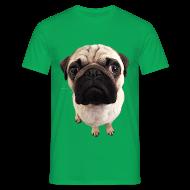 Männer T-Shirt klassisch - T-Shirts Mops Blick T-Shirts