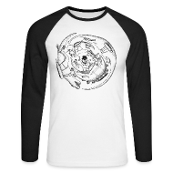 Long sleeve shirts ~ Men's Raglan Long Sleeve ~ Dinosaurs With Jetpacks - Men's Long Sleeved
