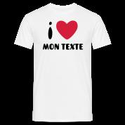 T-Shirt Personnalisé I Love Classique 3