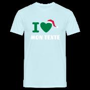T-Shirt Personnalisé I Love Noël 1