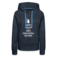 Hoodies & Sweatshirts ~ Women's Hoodie ~ Keep Calm Graciosa Windmill