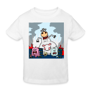 White COWZILLA vs Toiletroll Town Kid's Shirts