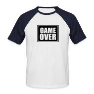 T-Shirts ~ Men's Short Sleeve Baseball Shirt ~ GAME OVER T-Shirt