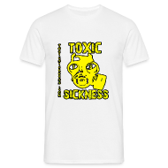 T-Shirts ~ Men's Standard T-Shirt ~ NEW Mens Yellow  Toxic Logo White t-shirt