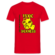 T-Shirts ~ Men's Standard T-Shirt ~ NEW Mens Yellow Toxic Logo Red T-Shirt