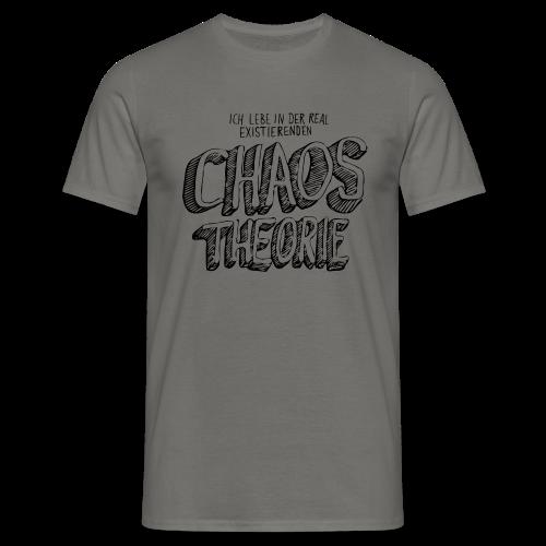 Männer T-Shirt von B&C - T-Shirts Chaostheorie (schwarz)