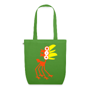 ...green Four-Legged Cartoon Bird by Cheerful Madness!! online shop Bags.