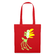 Red Four-Legged Cartoon Bird by Cheerful Madness!! online shop Bags.