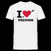 T-Shirt Personnalisé I Love Saint-Valentin