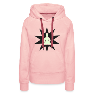 Sweat-shirts ~ Sweat-shirt à capuche Femme ~ Buddha hoodie glow in the dark