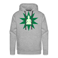 Sweat-shirts ~ Sweat-shirt à capuche Homme ~ Buddha hoodie green phospho