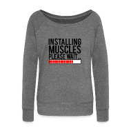 Hoodies & Sweatshirts ~ Women's Boat Neck Long Sleeve Top ~ Installing muscles please wait | Womens jumper