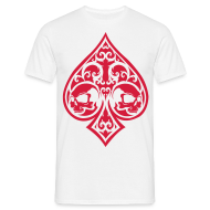 T-Shirts ~ Men's Standard T-Shirt ~ Ace of Spades Men's shirt - white/red