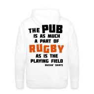 Hoodies & Sweatshirts ~ Men's Hoodie ~ The Pub is a Part of Rugby