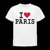 T-Shirt I Love Paris Enfant