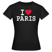 T-Shirt I Love Paris Femme