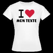 T-Shirt Personnalisé I Love Classique 6