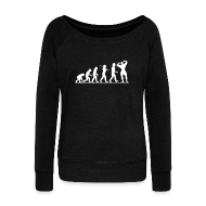 Hoodies & Sweatshirts ~ Women's Boat Neck Long Sleeve Top ~ Evolution |