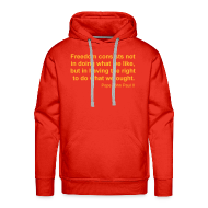 Hoodies & Sweatshirts ~ Men's Hoodie ~ FREEDOM CONSISTS