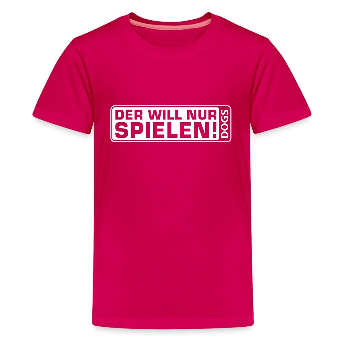 Martin-Ruetter-Der-will-nur-spielen-Teenager-Premium-T-Shirt-von-Spreadshirt