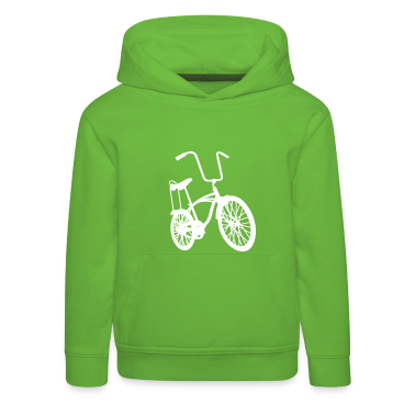 Green old school retro bike Kid's Tops