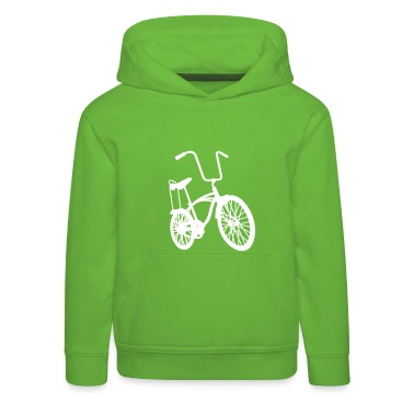 Grün old school retro bike  Kinder Pullover