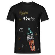 Man T-shirt - Night in Venice, Italy