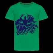 Un batteur et sa batterie Tee shirts Enfants