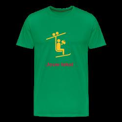skilift t-shirt met jouw tekst kelly groen