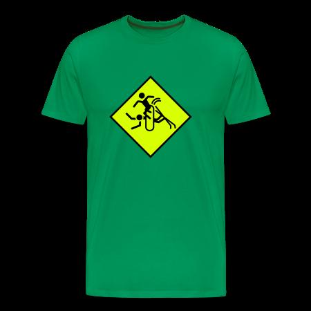 Pas op! snowboarders kelly groen