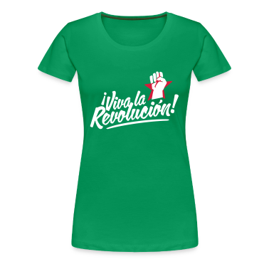 Kelly green revolution fist Women's T-Shirts