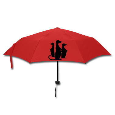 Red meerkat Umbrellas