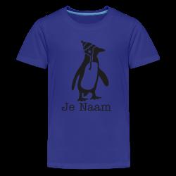 t-shirt penguin met zwarte glitters