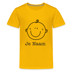 geel t-shirt met smiley