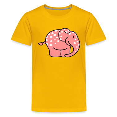 Rosa Elefant mit Tupfen Kinder T-Shirts
