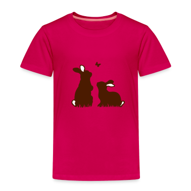Two rabbits watching a butterfly Kids' Shirts