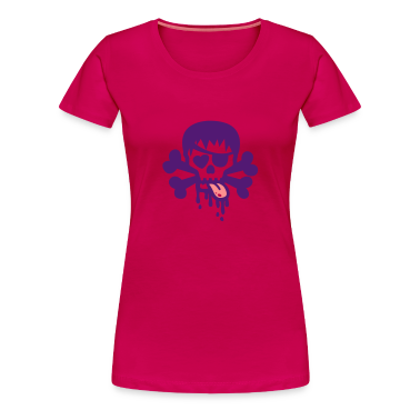 Light pink totenkopf bad skull Women's T-Shirts