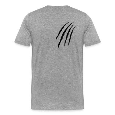 Ash claws tatze kralle klaue pfote Men's T-Shirts