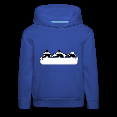 kinder snowboard sweater koningsblauw