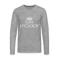 Long sleeve shirts ~ Men's Premium Longsleeve Shirt ~ Gin O'clock long sleeved T shirts