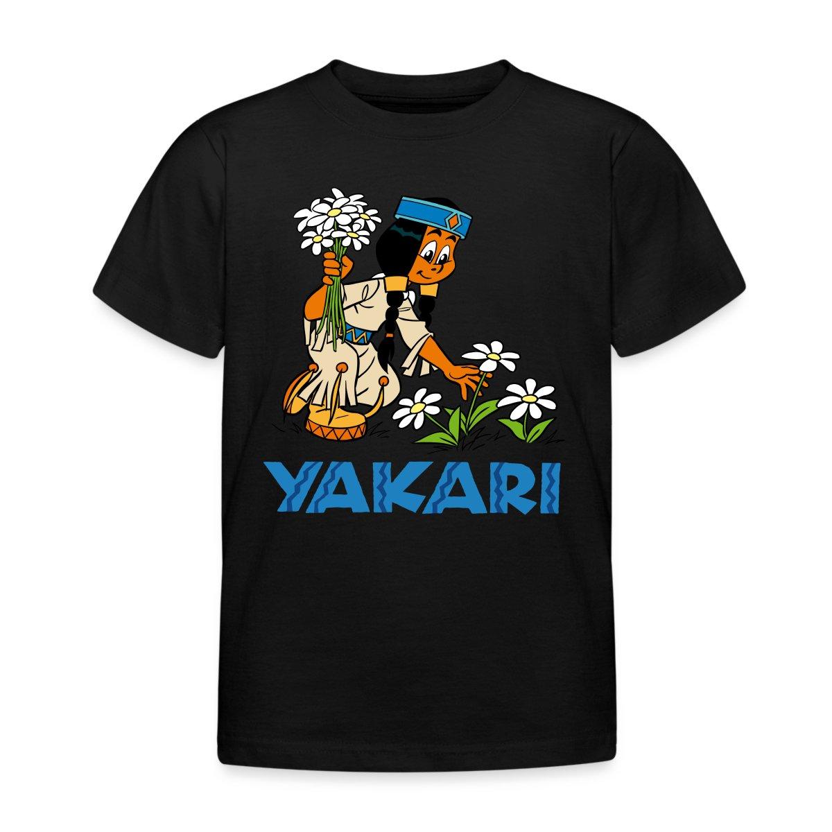 yakari indianerin regenbogen pfl ckt blumen kinder t shirt. Black Bedroom Furniture Sets. Home Design Ideas