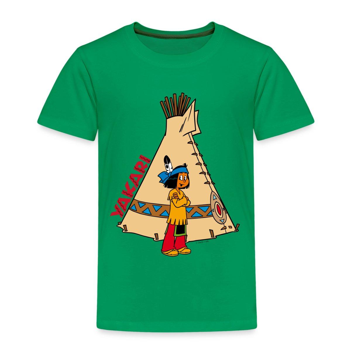 yakari vor indianerzelt kinder kinder premium t shirt von spreadshirt ebay. Black Bedroom Furniture Sets. Home Design Ideas