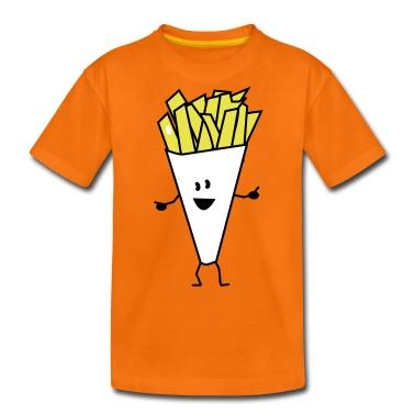 french fries Kids' Shirts