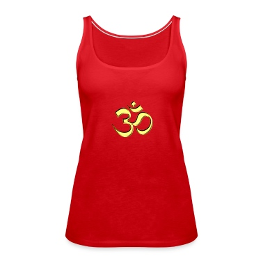 Sacred OM (AUM - I AM), gold, manifestation of spiritual strength, The energy symbol gives , peace and bliss Tops